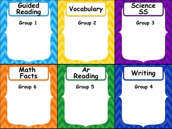 Customized Automated Reading/Math Rotation Station Powerpoint - Special 1