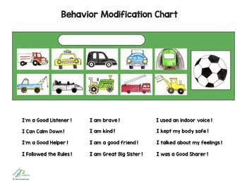 Customized Behavior Modification Chart (Vehicle Reward Chart) - Token Board