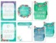 Customized Binder Covers & Spines {Calm & Cool Watercolor}