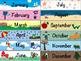 School Days Calendar (Color & Coloring Book Styles)