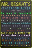 Customized Classroom Rules Poster