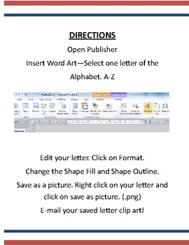 Customized Clip Art in Microsoft Word or Publisher Assignment