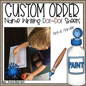 Customized Name Writing Practice (Dot Dot Writing)
