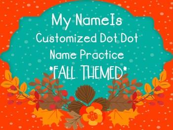 Customized Fall Writing Practice