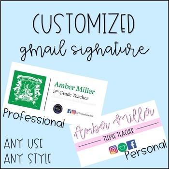 Customized Gmail Signature