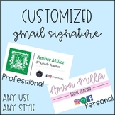 Customized Gmail Signature