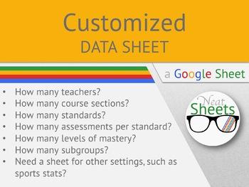 Customized Google Data Sheet
