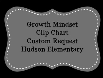 Customized Growth Mindset Clip Chart
