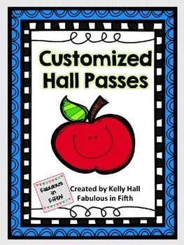 Customized Hall Passes