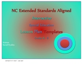 NC Extended Standards  Special Education Lesson Plan Templates Grades 6-8