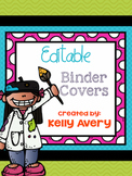 Editable Colorful Binder & Spine Covers with Coordinating Sheets and WBT Rules