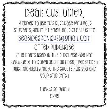 Name Tracing Practice (Custom Order)