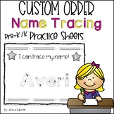 Name Tracing Practice (Custom Order)