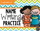 Customized Name Writing Practice {Handwriting Without Tears}