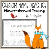 Customized Name Tracing Practice (Winter-Themed)