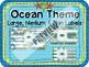 Customized OCEAN Theme LABELS Large, Medium, & Thin Plastic Drawer Units Add-On