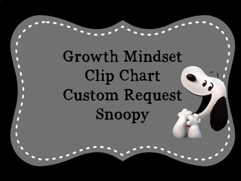 Customized Snoopy Growth Mindset