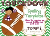 TOUCHDOWN! Spelling Pre-Test and Test Day Templates