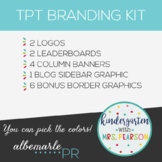 Customized TPT Shop Branding Kit with Custom Colors - TPT1