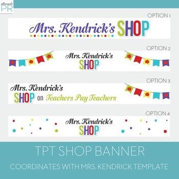 Customized Teachers Pay Teachers Banner - Mrs. Kendrick Banner