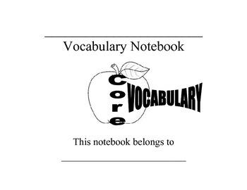 Customized Vocabulary Notebook (Word Study)