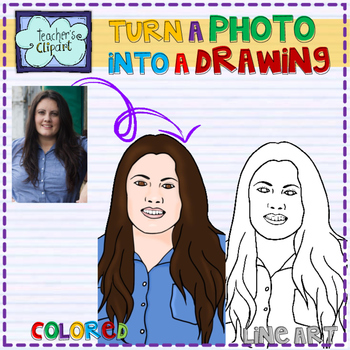 Customized avatar - Turn a photo into a drawing - Store logo picture graphic