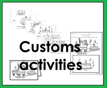 Customs Costumbres activities (Spanish and English)