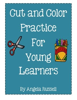 Cut And Color Practice For Young Leaners
