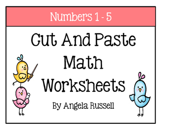 Kindergarten Math Worksheets ~ Cut And Paste