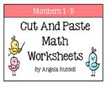 Kindergarten Math Worksheets - Cut And Paste