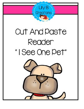 Cut And Paste Reader - I See One Pet