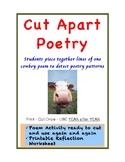 Cut Apart Poem - Poetry Activity & Printable - English ELA