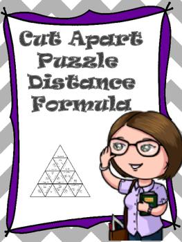 Cut Apart Puzzle Distance Formula
