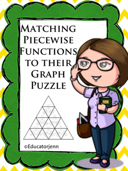Cut Apart Puzzle Piecewise Matching Graphs Functions