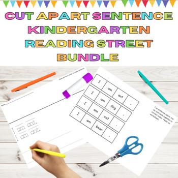 Cut Apart Sentences Kindergarten Reading Street Decodables Unit 1-6 Bundle