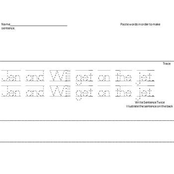 Cut Apart Sentences Kindergarten Reading Street Decodables Unit 5