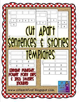 Cut Apart Sentences and Stories Templates