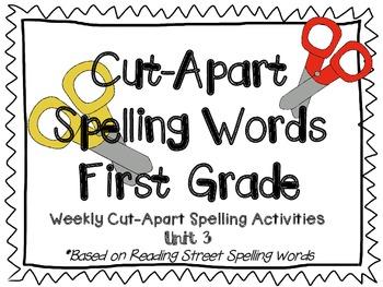 Cut Apart Spelling - Unit 3