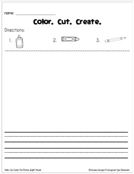 Color. Cut. Create.: Pre-Primer Dolch Sight Words