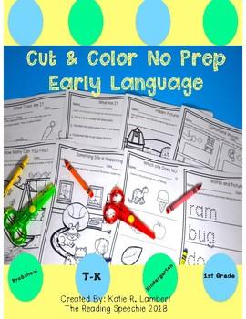 Cut & Color No Prep Early Language