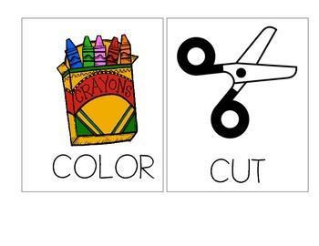 Cut, Color, Write, Glue Anchor Chart