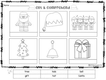 Cut & Comprehend {free Christmas version}