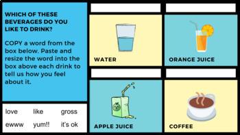 Cut, Copy & Paste Practice: Food & Drink