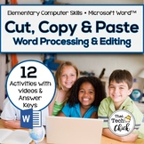 Word Processing and Editing Activities - Cut, Copy, and Paste! for MS Word