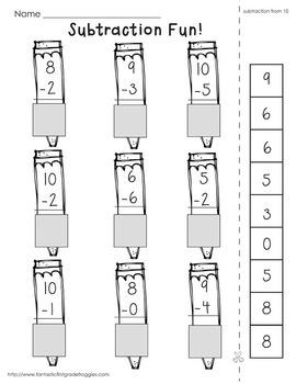 Cut, Do & Glue- Back to School Math