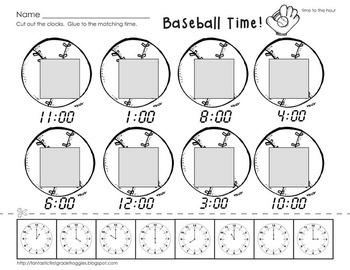 Cut, Do & Glue- Baseball Math