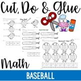 Cut, Do & Glue- Baseball Math Worksheets