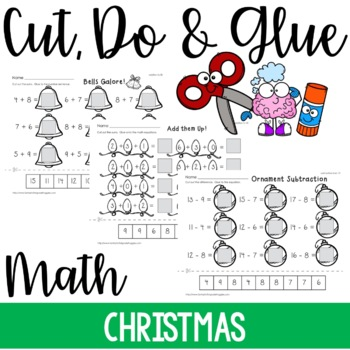 Cut, Do & Glue- Christmas Math