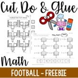 Cut, Do & Glue- Football Math Freebie