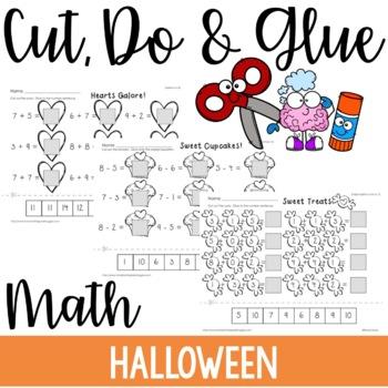 Cut, Do & Glue- Halloween Math